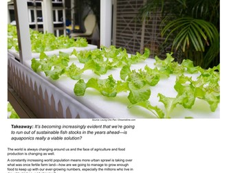 Aquaponics- The Key to a More Sustainable Future - Reading Guide