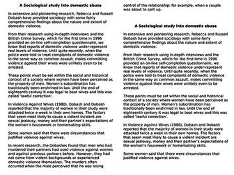 AQA AS Sociology- Families & Households: The Dark Side of the Family (Domestic Abuse)
