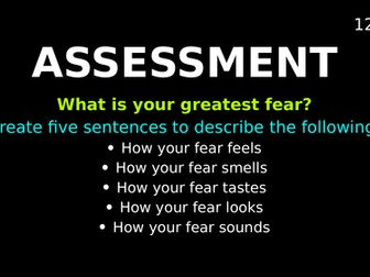 Imaginative Writing: Assessment