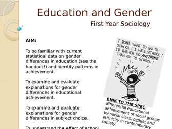 AQA Gender and Educational Achievement