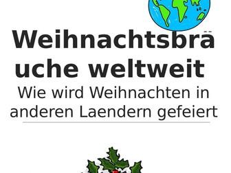 Weihnachtsbräuche Weltweit - Reading guide - AUF DEUTSCH