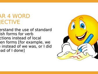 YEAR 4 SPAG PPT: Using standard English forms for verb inflections