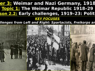 Edexcel Weimar & Nazi Germany, Topic 1: The Weimar Republic, L2: Early Challenges, Left and Right