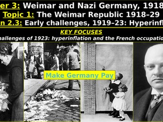 Edexcel Weimar & Nazi Germany, Topic 1: The Weimar Republic, L2: Early Challenges, Hyperinflation