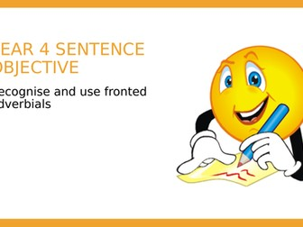 YEAR 4 SPAG: Fronted Adverbials