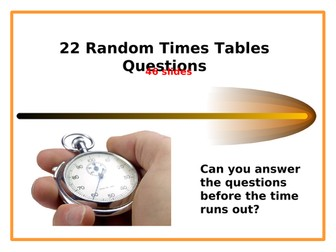 Times Tables - 22 Fun & Timed Questions