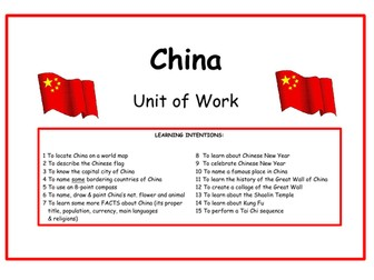 China - Unit of Work & PowerPoint