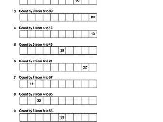 1000 questions Counting Patterns Mathematics KS2 Calculator Use