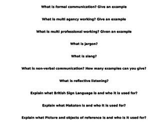 UNIT 1 DEVELOPING EFFECTIVE COMMUNICATION- QUIZ