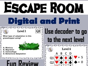 Animal Adaptations: Digital Breakout Science Escape Room
