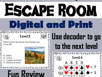 World Biomes: Digital Breakout Science Escape Room