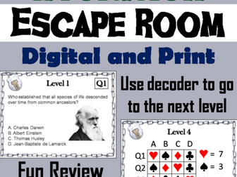 Evolution: Science Escape Room