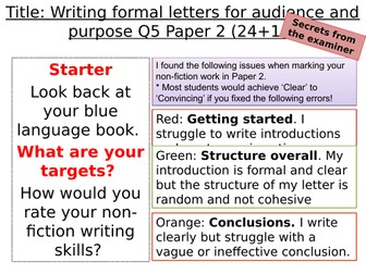 Paper 2 Q5 Writing task and plan template