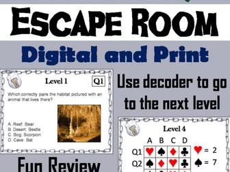 Habitats: Science Escape Room Activity