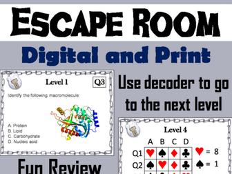 Macromolecules: Science Escape Room