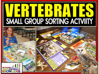Animal Classification: Vertebrate Sorting Activity