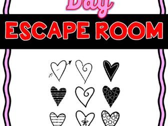 Valentine's Day Escape Room - No Prep!