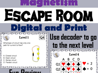 Electricity and Magnetism: Science Escape Room