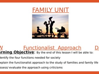 Sociology- Functionalist Perpective view of family