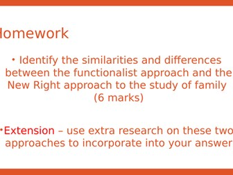 Sociology- New Right view of family