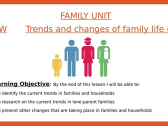 Sociology- Trends and changes of family life