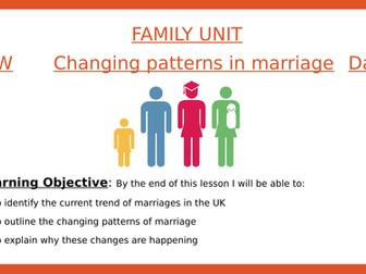 Sociology- Trends in marriage and divorce