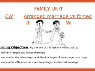 Sociology- Arranged vs forced marriage
