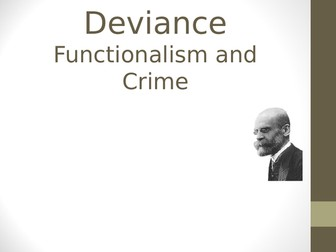 AQA Functionalism and Crime