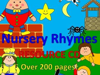 Nursery Rhyme bumper pack -EYFS- 10 rhyme packs +planning ideas