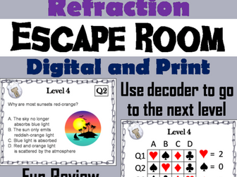 Reflection and Refraction Escape Room