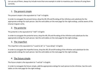 New Spanish GCSE grammar - Complex structures guide