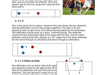 Set of Football Lesson Plans