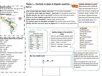 Spanish GCSE AQA - Festivals in Spain and Hispanic countries - Part 2