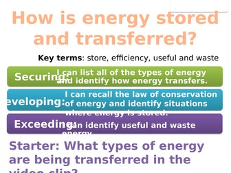 7Ib Energy stores and transfers (Exploring Science)