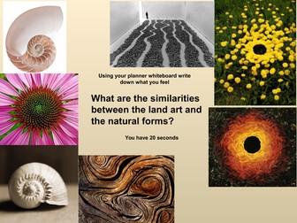 Richard Long Land Art Composition lesson