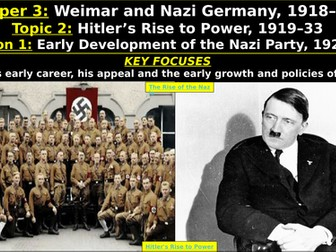 Edexcel Weimar & Nazi Germany, Topic 2: Hitler's Rise to Power, L1: Early Development Nazi Party