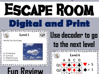 Types of Clouds: Science Escape Room