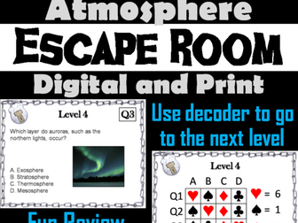 Layers of the Atmosphere: Science Escape Room