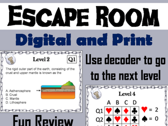Layers of the Earth Activity: Science Escape Room