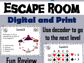 Rock Cycle: Science Escape Room