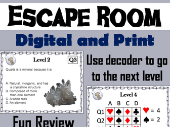 Rocks and Minerals: Science Escape Room