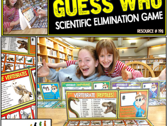 Animal Kingdom Classification Guess Who Game