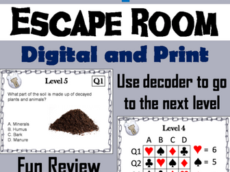 Properties of Soil: Science Escape Room