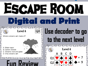 Volcanoes: Science Escape Room