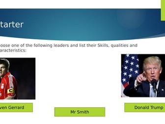BTEC Sport L3 presentations - Unit 4: Leadership Learning Aim A