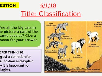AQA new specification-Classification-B15.9