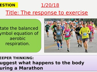 AQA new specification-The response to exercise-B9.2