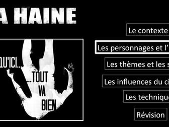 La Haine- Movie study/ Etude du film- Les personnages et l'intrigue- A Level French