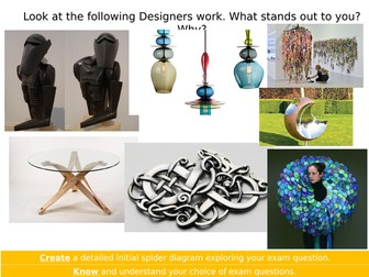 AQA Three Dimensional Design Exam Prep Lesson.