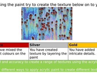 AQA GCSE Art Creating Texture With Acrylic.